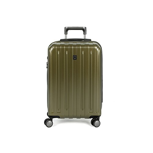 Delsey Luggage Helium Titanium Carry-On EXP Spinner Trolley Metallic