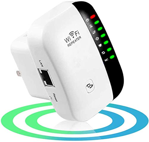 JSTH WLAN Repeater, WLAN Verstärker 300Mbit/s 2,4GHz WiFi Repeater mit LAN Port/AP Modus, mit RJ45 Netzwerkkabel