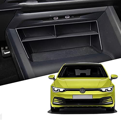 KAMIIN Organizador de Consola Central para Golf 8, Caja de Almacenamiento de Control Central, Caja Organizer Coche Interior Accesorios para Golf 8 MK8 2020+ ✅