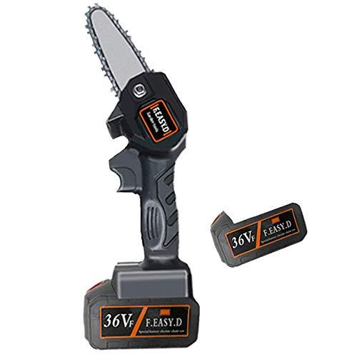 UIGJIOG La poda eléctrica Mini Sierra Wireless, Motosierra batería de luz portátil de 4 Pulgadas con Litio y Cargador para Madera Copa del árbol en la ramificación,2pcs 36v