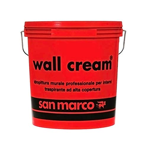 San Marco WALL CREAM Pittura traspirante per interni alta copertura, colore: Bianco, size: 14 lt