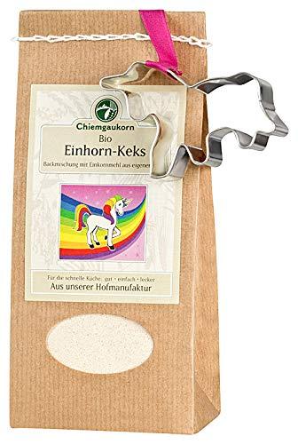 Chiemgaukorn Bio Chiemgauer Einhorn-Keks, Keks-Backmischung mit Keks-Austecher 270 g