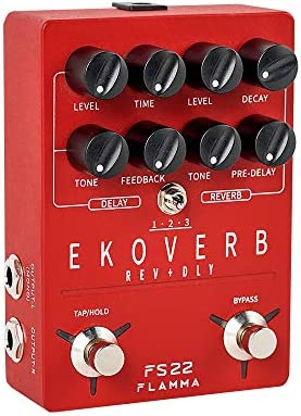 FLAMMA FS22 Stereo Delay and Reverb Pedal Digital Guitar Effects Pedal with Reverse Delay Shimmer product image