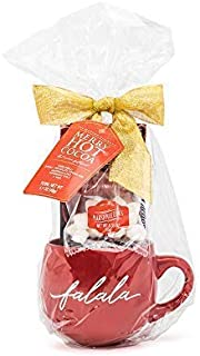 Thoughtfully Gifts, Ghirardelli Merry Hot Cocoa Gift Set, Includes Double Chocolate Hot Cocoa Mix, Peppermint Candy Cane and Mini Marshmallows