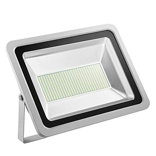 Missbee 300W Led Flood Light, 6000-6500K 33000Lm Outdoor Security Light, IP67 Waterproof Led Spot Lights Outdoor, Super Bright Led Wall Light for Garage, Yard, Lawn, Garden, Playground (Cold White)