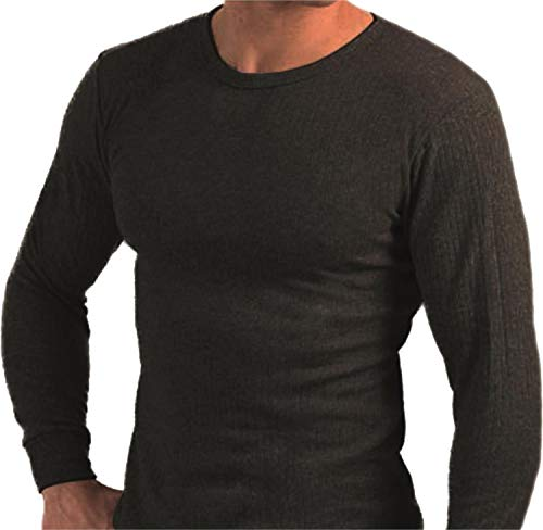 normani 3er Pack Thermohemd Herren-Thermounterwäsche - Thermo-Unterhemd auch in Übergrößen [XS - 4XL] Farbe Anthrazit Größe 8=L