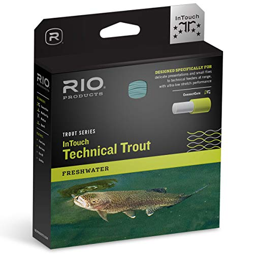 RIO PRODUCTS InTouch Technical Trout Fly Line (WF4F) - 4 Weight, Weight Forward, Floating, Sky Blue/Peach/Ivory