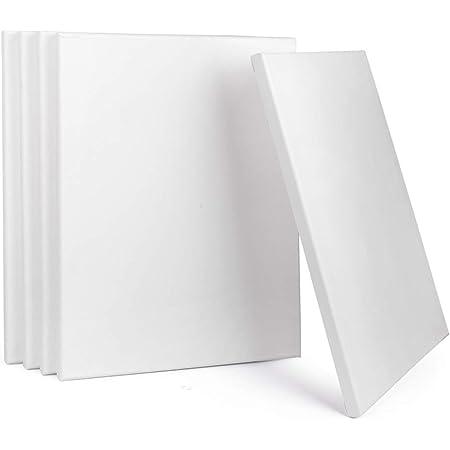 5er Set Hiver Châssis Académie 30x30cm toile blanc 100/% coton
