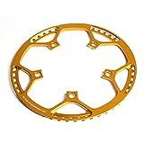 ZHANGM Bicicleta Plegable Cainado de Ancho Estrecho 130 BCD Forma Redonda de una Sola Cadena de Cadena Velocidad 45T 47T 53T 56T 58T (Color : Gold 56T)
