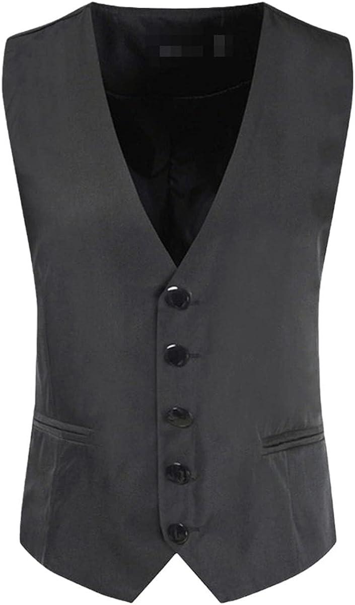Men's suit vest Slim version solid color single-breasted formal business wedding vest