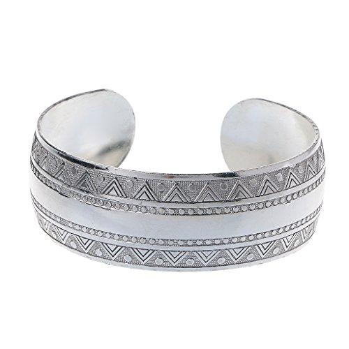 suoryisrty Vintage Tibet Silber Geschnitzte Breite Manschette Armreifen Armbänder Gypsy Ethnic Lucky Totem Blume Alten Bangle Schmuck Unisex