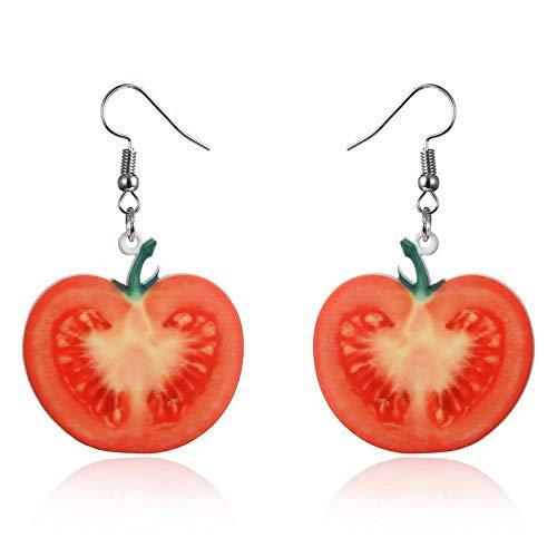 Acryl Wassermelone Ohrringe Süße Frucht Tropfen Ohrringe Erdbeer Gurke Drache Ananas Tomate Kiwi