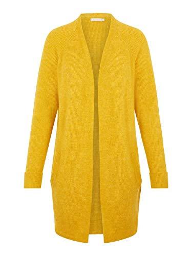 PIECES PCELLEN LS Long Knit Cardigan Noos Chaqueta de Punto, Nugget Gold, XS para Mujer