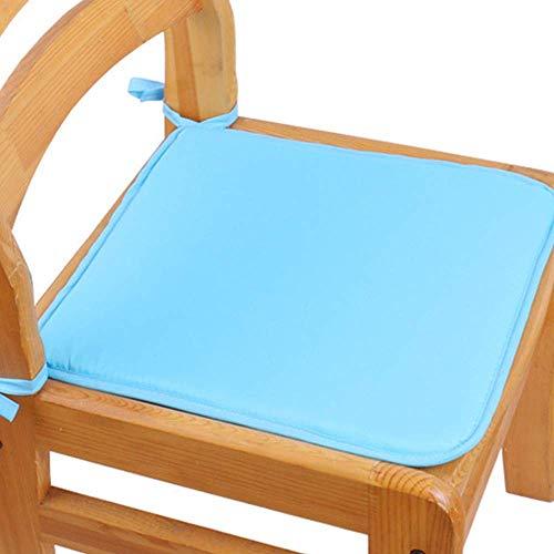 WEIZI Juego de 2 Almohadillas para Asientos de Silla con cojín Premium con Lazos Cojines para Bar jardín Cocina Muchos Colores (Azul Cielo)