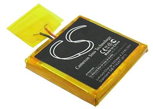 Battery for Apple iPOD Shuffle G2 1GB 616-0278 3.7V 100mAh