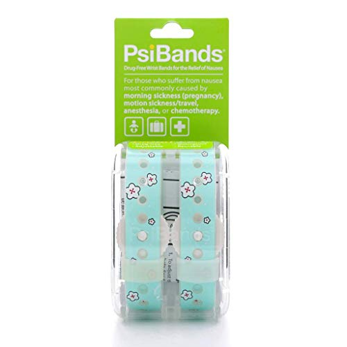 Psi Bands Acupressure Wrist Bands for The Relief of Nausea – Cherry Blossom
