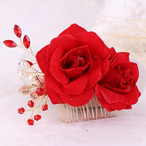 Clips de pelo Peinetas Para El Cabello Con Perlas Y Flores De...