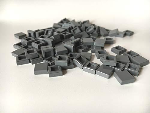 LEGO ® 100 Fliesen 1x1 in dunkel Grau / DBG