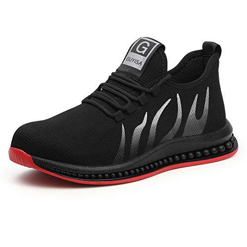 Ayqyc Arbeitsschuhe Herren Damen S3 Leicht Sportlich Sicherheitsschuhe Stahlkappe Sneaker