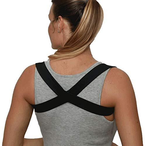 Posture Brace Shoulder Support Posture Corrector Made in USA - The 2 in 1 POSTURIFIC Brace. Designed by a Chiropractor. Available in Colors and Sizes...