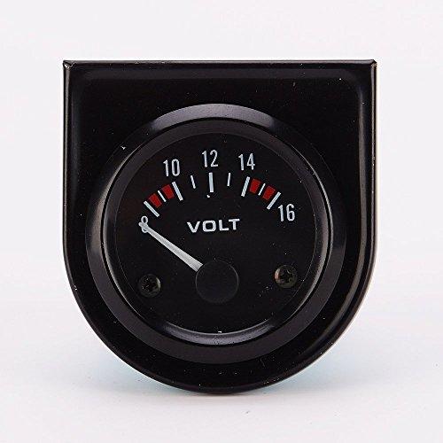 Universal-Voltmeter für Auto, 8-16 V, 52 mm, in Schwarz