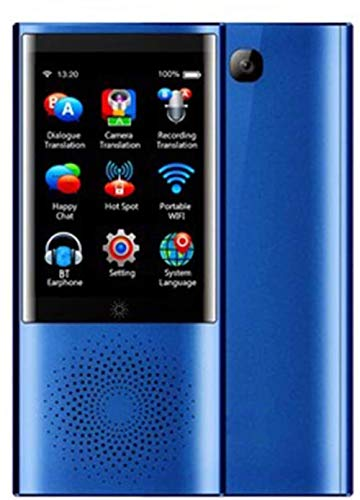 Touch Screen Intelligent Language Converter More Than 45 Languages Business Travel Translator 4G Network 1G + 8G for Travel Learning Business Shopping Conference-Blue