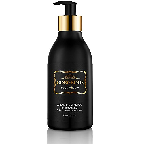 Moroccan Argan Oil Shampoo sls Free .Gentle on Curly & Color Treated Hair