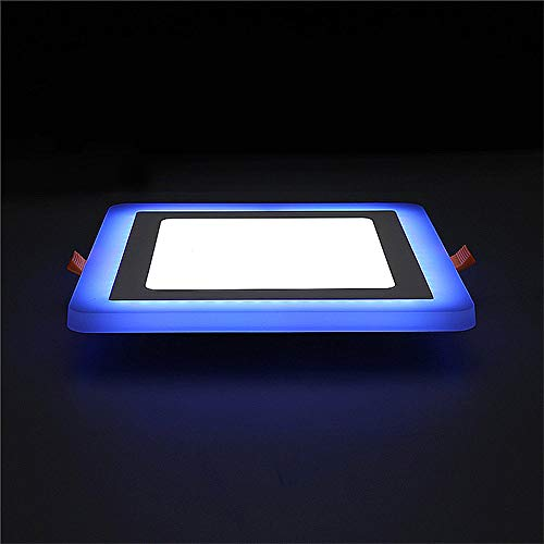 LED Panel Strahler, 6 + 3W LED-Lampe Doppeltafel-Leuchte Farbe LED-Deckeneinbauleuchten Innenbeleuchtung,Square