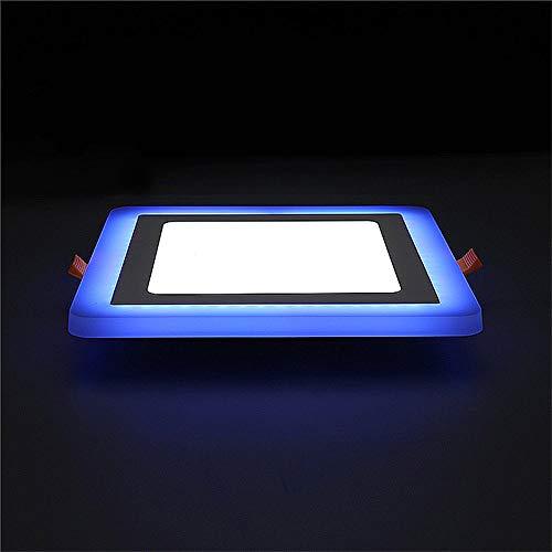 LED-paneel spots, 6 + 3 W LED-lamp dubbelpaneel lamp kleur LED-plafondinbouwlampen binnenverlichting Square
