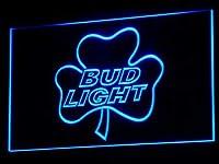Bud Light Shamrock LED看板 ネオンサイン ライト 電飾 広告用標識 W40cm x H30cm ブルー