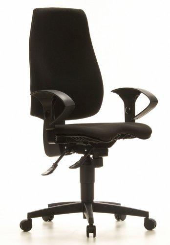 Topstar Sydney PRO Chaise de bureau pivotante en tissu Noir