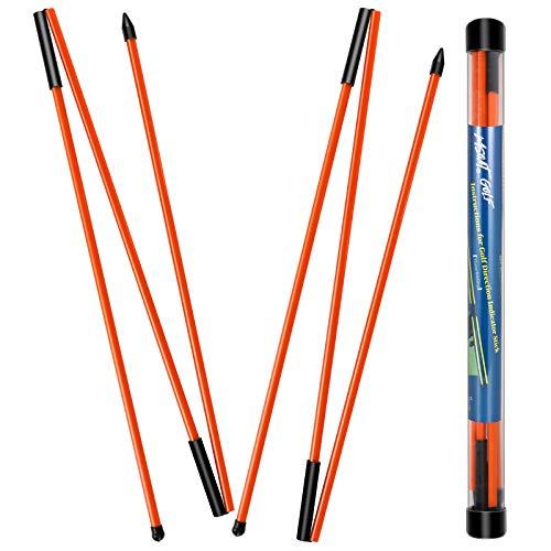 MSOAT Golf Alignment Sticks Trainingshilfe (2er-Pack). 3 Abschnitte Faltbare Übungsstangen, Golf-Trainingsgeräte zum Zielen, Putten, Schwingtrainer, Schulter-, Hüft- und Haltungskorrektor