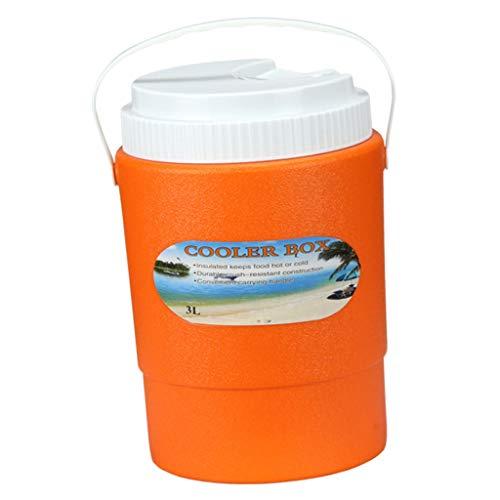 Toygogo Camping Eiskübel Eiswürfelbehälter Isoliert Eiseimer Eisbehälter Getränkekühler - Orange 3L