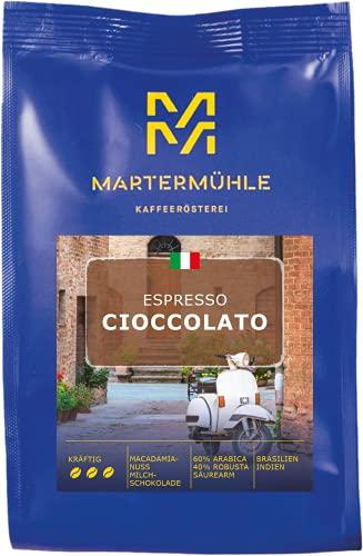 Martermühle - Espresso Cioccolato (ganze Bohnen 500g, Premium Espressobohnen schokoliert) - Schonende Trommelröstung