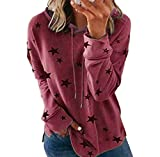 YXZFZ V Neck Sweater Women Juniors Knit Extra Long Sleeve Jersey Burgundy Pullover Hooded Sweatshirt Christmas Plus Size Tops Casual Cotton Baggy Prime Swing Tunic Blouses with Kangaroo Pocket Red M