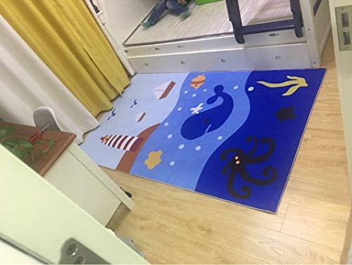 TIKNPOL Tapis de Jeux pour Bébé Tapis de Sol bébé Dessous de Chaise Haute Tapis de Jeu Anti-dérapant Nappe Tapis Tapis de Protection de Sol -50x80cm(20x31inch)-AK