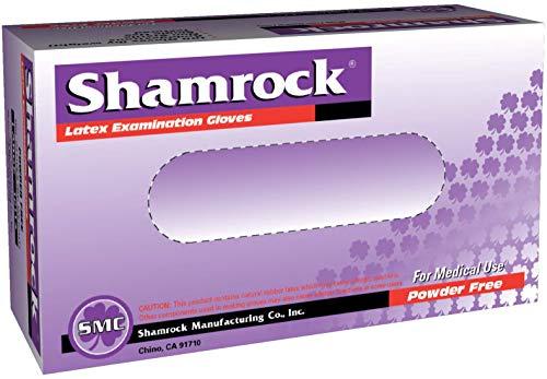 Shamrock 10112-M-bx Med Glove, thin, No Powder, Slick Surface Latex, Medium, Natural