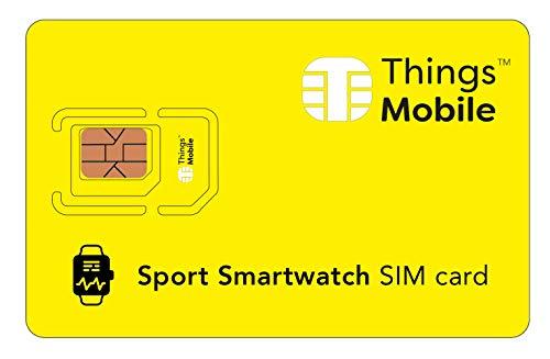 Simkaart voor Sport Smart Watch – Things Mobile – met wereldwijde dekking en GSM/2G/3G/4G LTE multioperer netwerk zonder vaste kosten en concurrerende voordelen zonder creditcard.