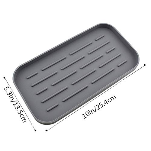 N / A Silicone Sink Tray,Organizer Mat for Soap Dispenser,Countertop Protector,Non-Slip, Heat Resistant and Dishwasher Safe,for Kitchen.5.310in