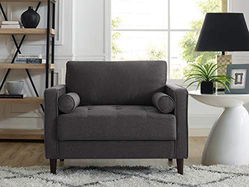 "Lifestyle Solutions Lexington armchairs, 39.80"" W x 31.10"" D x 33.50"" H, Heather Grey"