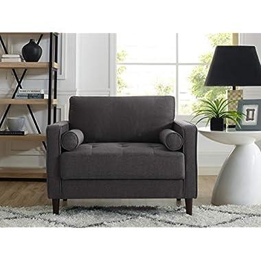 Lifestyle Solutions Lexington armchairs, 39.80″ W x 31.10″ D x 33.50″ H, Heather Grey