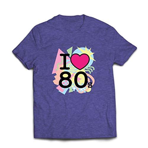 lepni.me mannen T-shirt Ik houd van de jaren 80 oude rockband, Rock and Roll