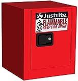 Justrite 890401 Sure-Grip EX Galvanized Steel 1 Door Manual Flammable...