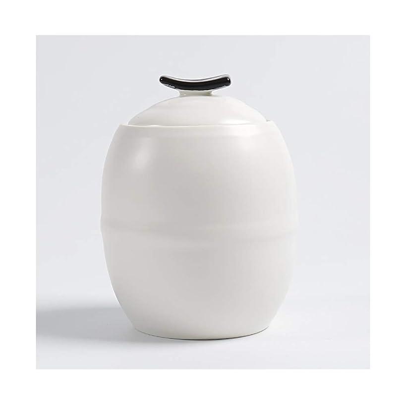 直接密輸タービンアッシュ缶 ミニ骨壷火葬の大人の子供の灰の貯蔵タンクの陶磁器の物質的な人の少量の灰のための美しい記念品11 * 8 cm (Color : White)