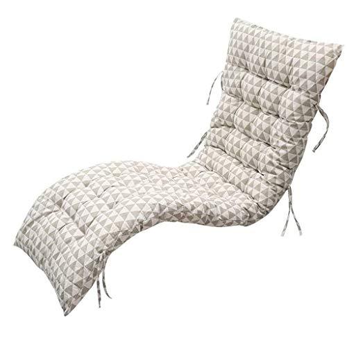 Cojines para tumbonas de exterior Tumbona Cojines, reemplazo clásico jardín Patio grueso de sillón reclinable alisador Pad for viajes de vacaciones jardín interior al aire libre, sin sillas (patrón ge