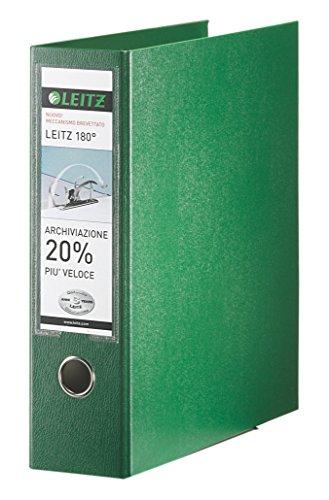 Leitz mappen met hefboommechanisme 180 ° en met mobiele telefoon, formaat commerciële doeleinden, karton gecoat polypropyleen Formato protocollo groen