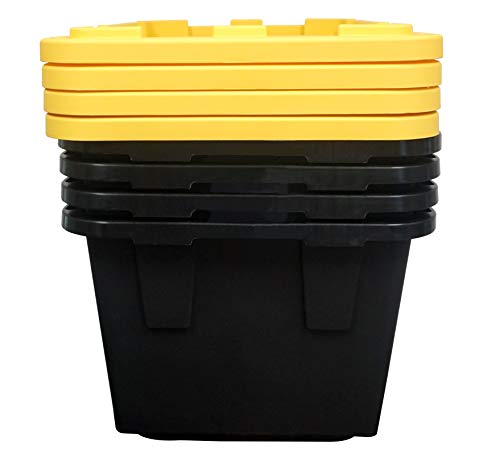 Greenmade 4 Pack Heavy-Duty Plastic Storage Boxes with Lids, 27 Gallon (4)