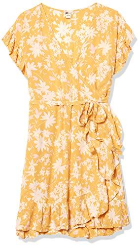 Billabong Women's Wrap and Roll Dress, Bright Gold, M