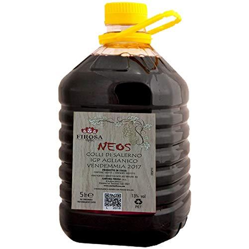 5 Litri Aglianico Neos | Vino Rosso Cantina Firosa | Tanica da 5L | Confezione Famiglia | Confezione Ristorante
