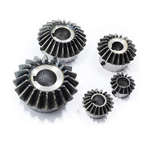 Module de pignon Conique Mineur 2 Dents 20 avec Trou intérieur 16 mm 17 mm 18 mm 19 mm 20 mm 90 degrés d'entraînement Commutation Engrenages en Acier Trou de vis, 20 Dents, 20 mm